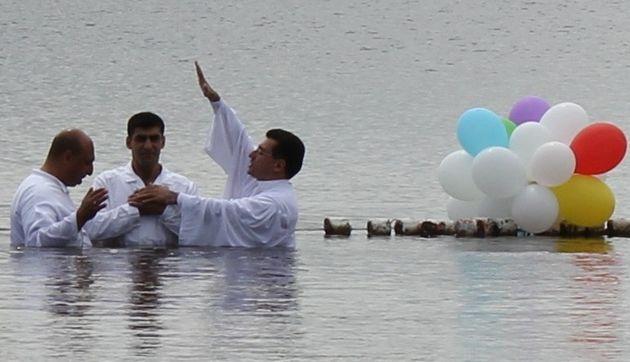 Крещение в АХЕЦ